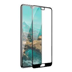 0.3MM Full Screen Surface Tempered Glass CNC Black for HUAWEI P20