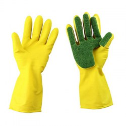 1 Pair Durable Kitchen Dish Washing Cleaning Magic Sponge Gloves