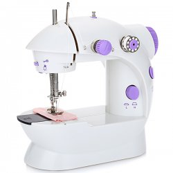 202 Mini Automatic Thread Sewing Machine Double Speed Control Button