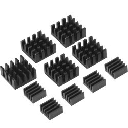 10pcs Aluminum Heatsink Cooler Cooling Kit for Raspberry Pi 3/ Pi Model B+/ Pi 2