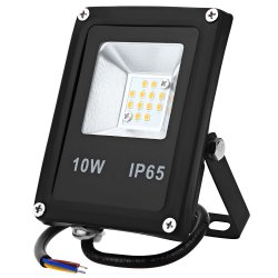 10W 900LM 360 Degrees Microwave Induction LED Flood Light Projection Lamp