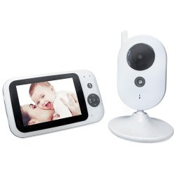 303 Temperature Monitoring / Power Saving / Feeding Reminder 3.5 inch 2.4GHz Baby Monitor with Night Vision