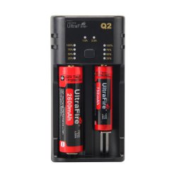 UltraFire Q2 AA / AAA / 18650 / 14500 USB Dual Slot Universal Lithium Battery Charger