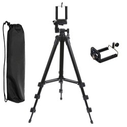 2in1 Three-way Universal Tripod Camera Camcorder with Cell Phone Clip Holder