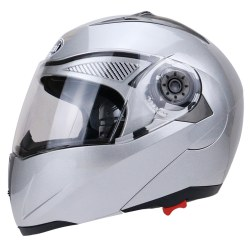 Full Face Street Bike Helmet Dual Visor with Transparent Shield
