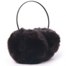 Super soft Faux Rabbit Fur Fashion earmuffs black