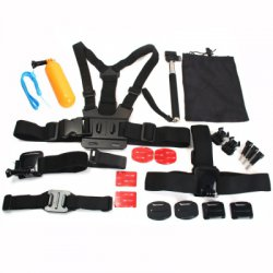 23pcs / Pack AT435 Photography Accessories Kit Universal for Action Sports Camera
