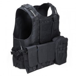 Tactical Military Swat Field Battle Airsoft Molle Combat Assault Plate Carrier Vest