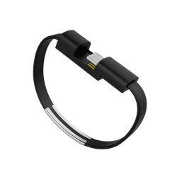 Cwxuan USB 2.0 Type C Bracelet Wrist Band Data Sync Charging Cable